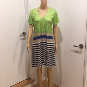 David Cline T-shirt dress, lime green